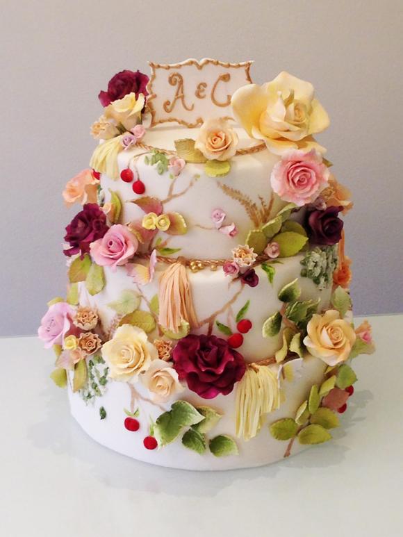 Luxury Wedding Cake by Connie Cupcake