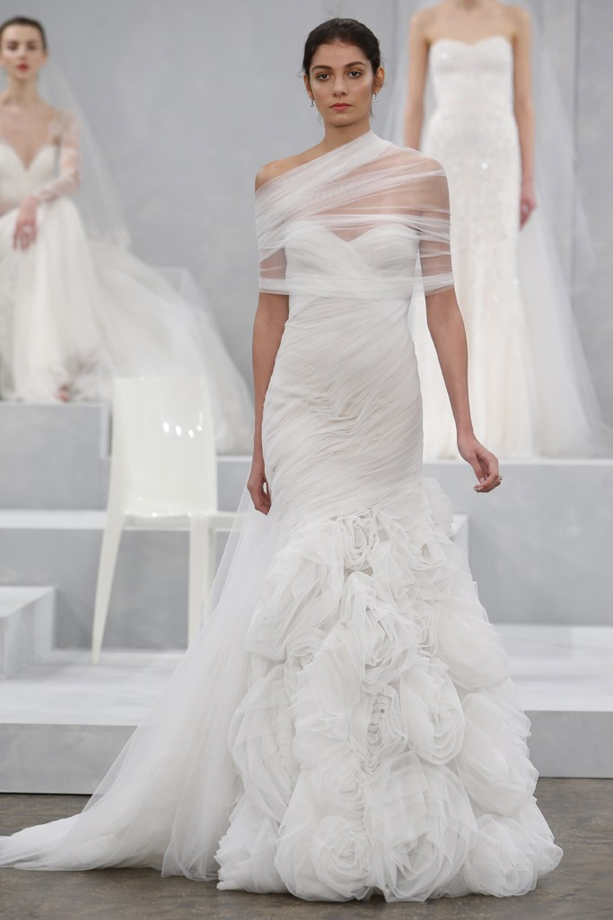 Monique lhuillier spring 2015 bridal collection preowned for Pre owned wedding dresses