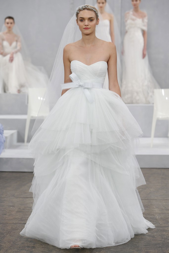 Monique lhuillier spring 2015 bridal collection preowned for Pre used wedding dresses