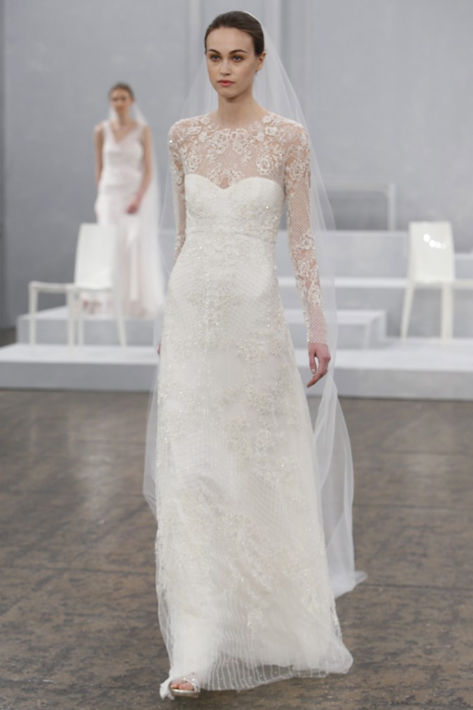 Monique Lhuillier Spring 2015 Bridal Collection | PreOwned Wedding ...