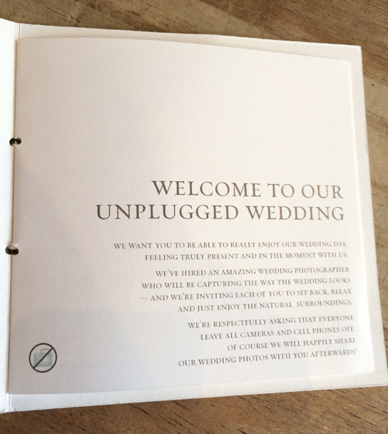 how to  gracefully  unplug your wedding