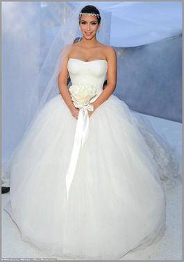 Kim Kardashian Vera Wang Wedding Dress