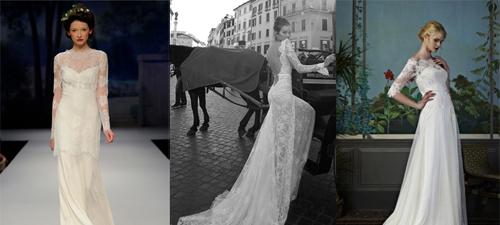 Lace Sleeves wedding dresses