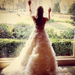 Used Lazaro wedding dress for sale on PreOwnedWeddingDresses.com