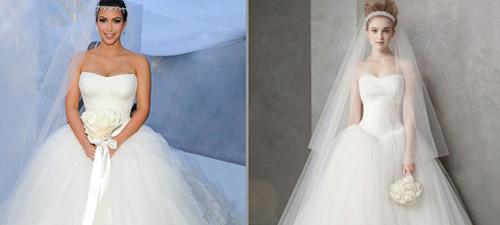Kim Kardashian Vera Wang Ceremony Dress