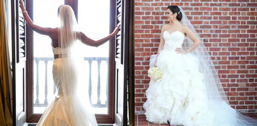 Lazaro wedding gowns for sale on PreOwnedWeddingDresses.com
