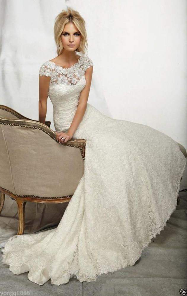 Ivory colored wedding dress for older second time bride for Dress for second wedding
