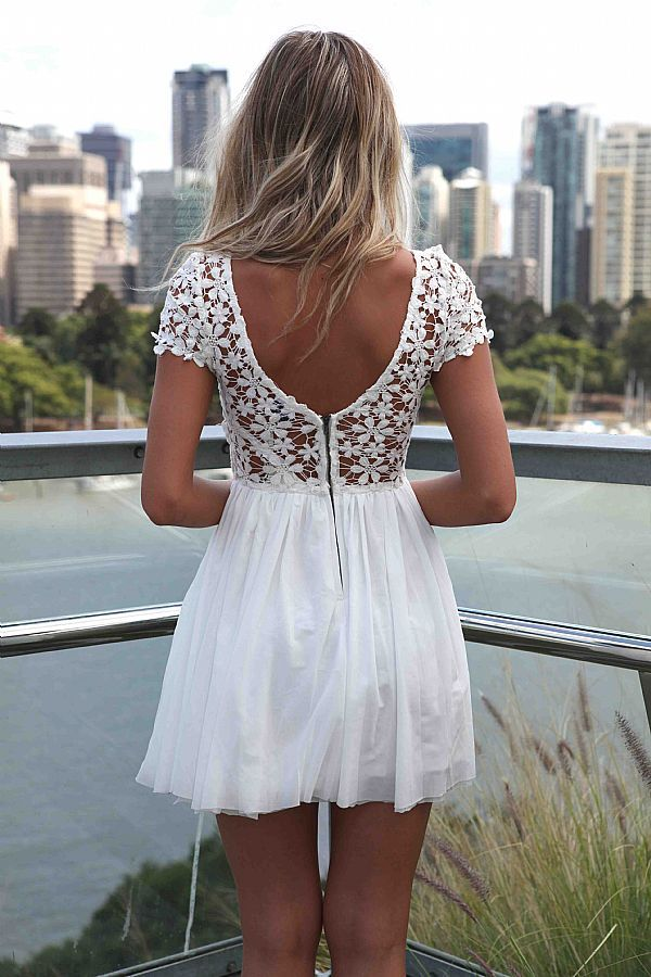little lace white dress