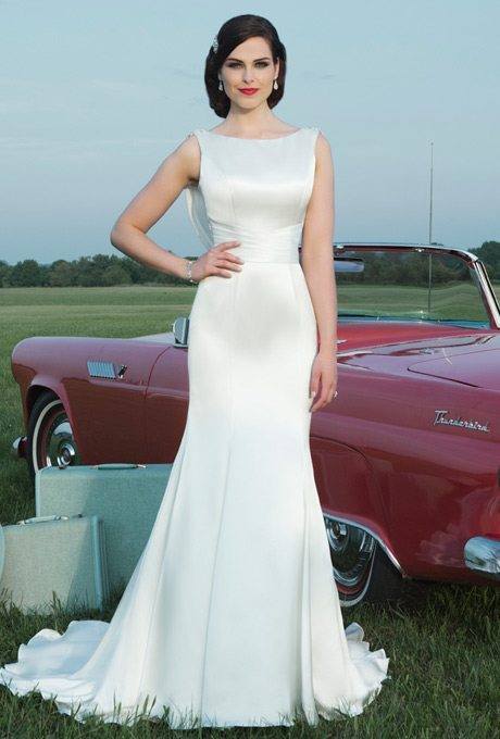 Silky bridal gowns for the second time around i do take two for Wedding dresses for second time brides