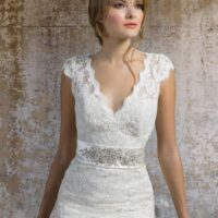 ivory wedding dress older bride