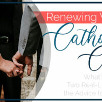 Renewing Vows at Catholic Church