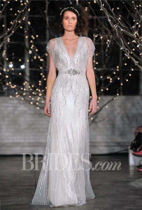 Shimmery silver gowns for the second time around i do for Second time around wedding dresses