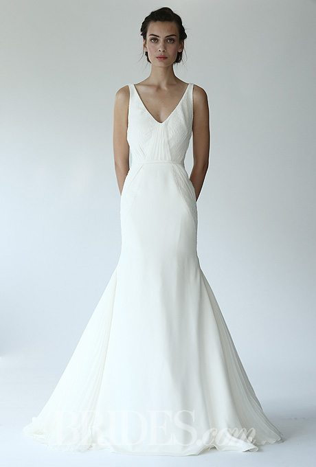 Beach wedding gowns for the second time around i do take two for Around the neck wedding dresses