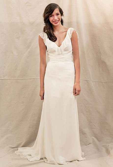 Preppy wedding gowns for the second time around i do for Second time wedding dress