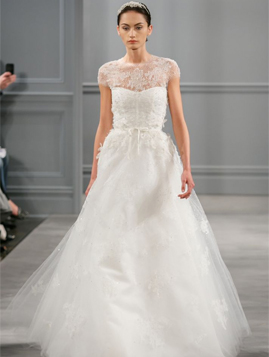 Monique Lhuillier Illusion for sale on PreOwnedWeddingDresses.com