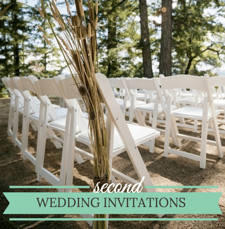 second wedding invitations