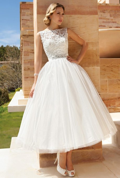 Tea length beauties for older more sophisticated brides for T length wedding dresses