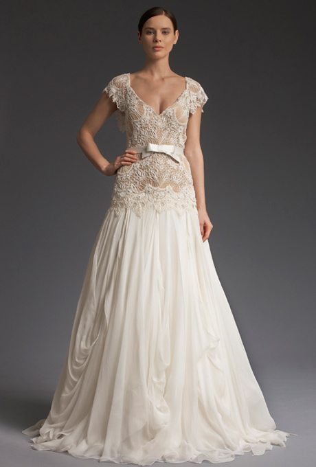 Free flowing fall bridal gowns for your vow renewal i for Dresses to renew wedding vows
