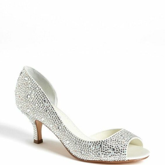Sparkle Kitten Heel Bridal Shoes
