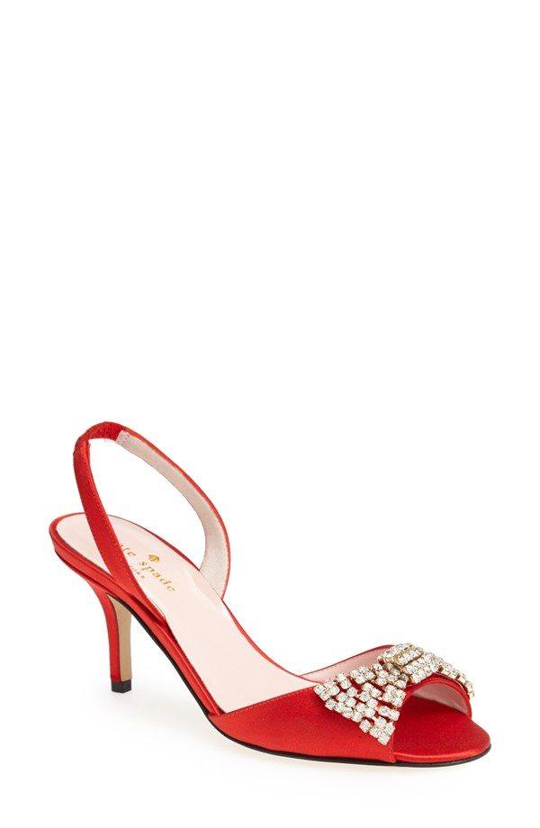 Sparkle Kitten Heel Bridal Shoes