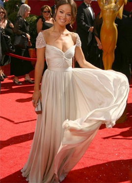 Reem Acra Angel Hair Olivia Wilde