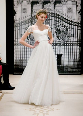 Reem Acra Angel Hair Wedding Dress