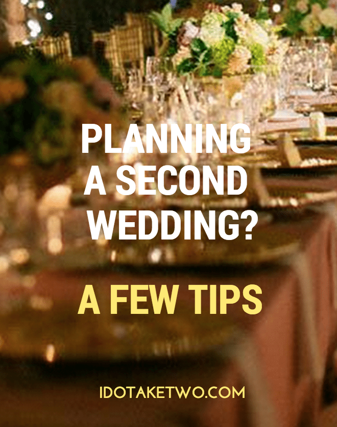 second wedding tips