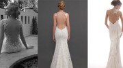 Low backed wedding dresses