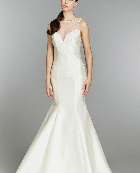 Wedding Gowns with Illusion Necklines