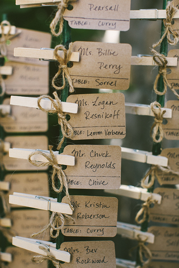 Pretty Wedding Escort Cards | PreOwnedWeddingDresses