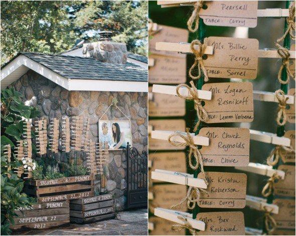 Pretty Wedding Escort Cards   PreOwnedWeddingDresses
