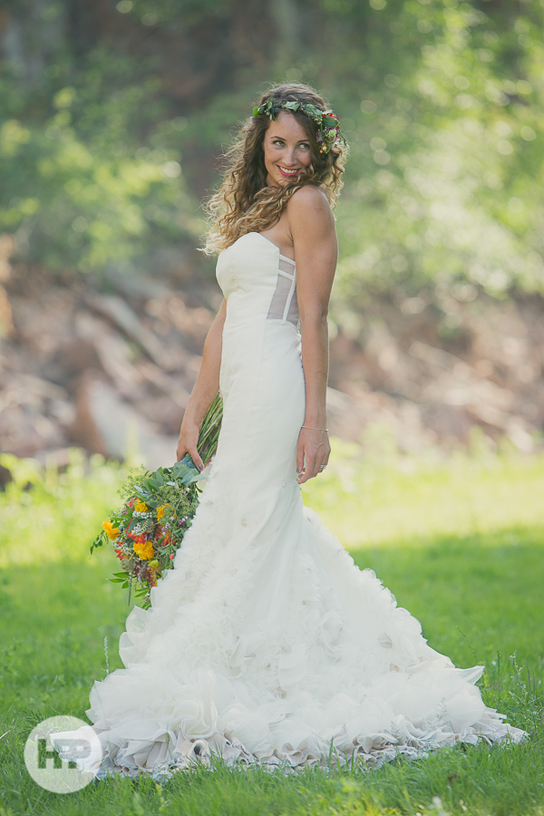 Hayley paige hp6262 real wedding inspiration preowned for Best way to sell used wedding dress