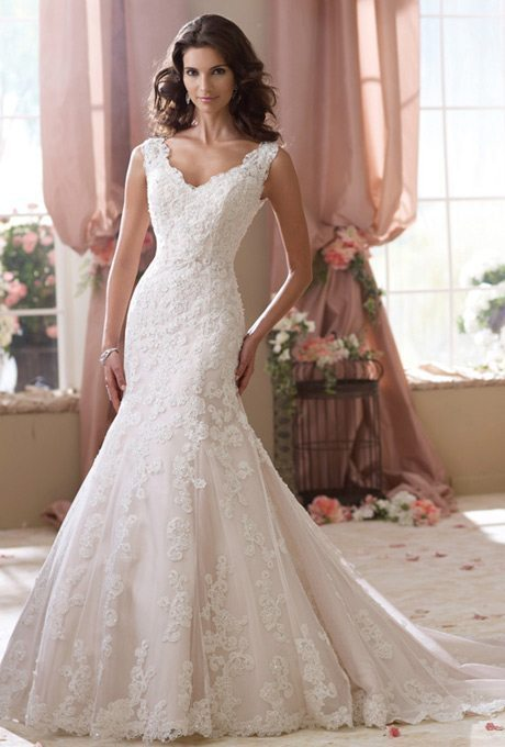 Lace Mermaid Wedding Gown