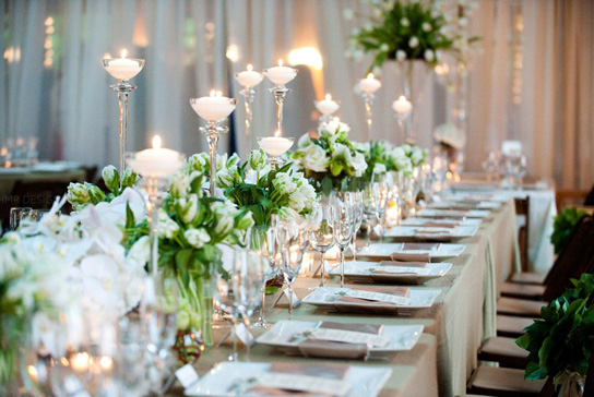 Romantic Candlelight Wedding Inspiration   PreOwnedWeddingDresses.com