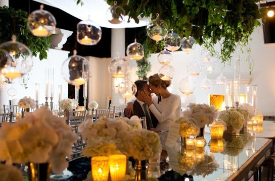 Romantic Candlelight Wedding Inspiration | PreOwnedWeddingDresses.com