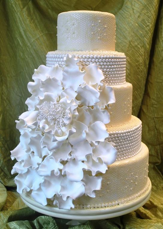 All White Wedding Cakes | PreOwnedWeddingDresses.com