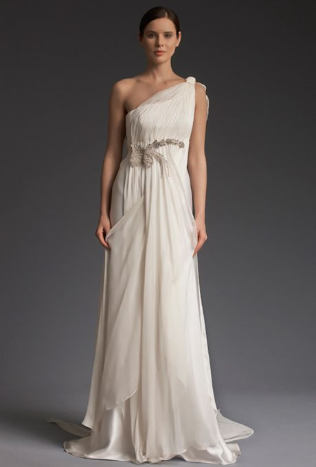 Gorgeous grecian wedding gowns for your second time for Second time around wedding dresses