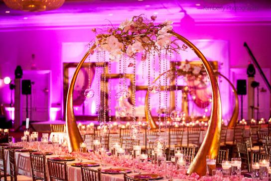 Tall Centerpiece Wedding Inspiration   PreOwnedWeddingDresses.com