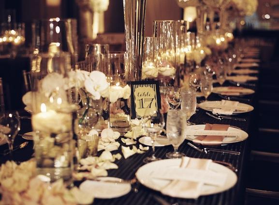 Vintage Glam Wedding Tablescapes | PreOwnedWeddingDresses.com