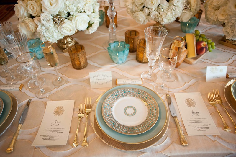 Vintage Glam Tablescapes Wedding Inspiration PreOwned Dresses