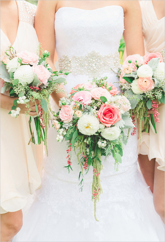 Romantic Bridal Bouquet Inspiration Preowned Wedding Dresses