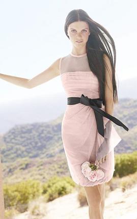 Vera Wang White VW360037 bridesmaid dress