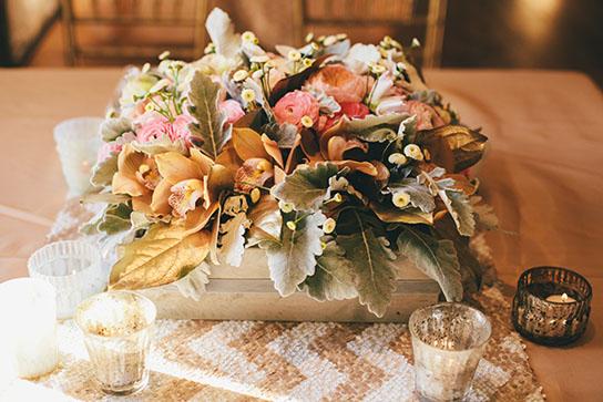 Low Wedding Centerpiece Inspiration   PreOwnedWeddingDresses.com