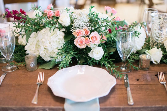 Low Wedding Centerpiece Inspiration | PreOwnedWeddingDresses.com