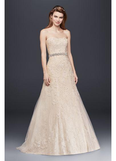 Jewel Lace A-Line Dress | David's Bridal