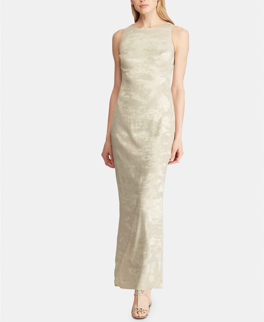 Metallic Jacquard Dress | Ralph Lauren