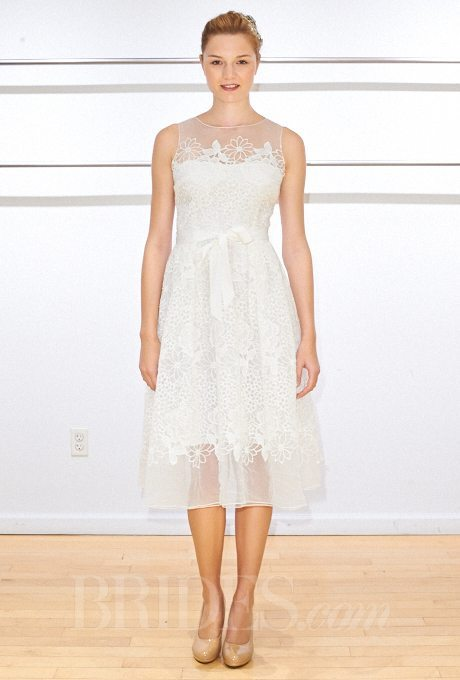 Casual Fall 2014 Knee Length Wedding Dresses Simple and sweet this dress