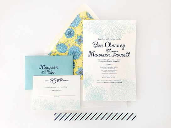 Chic, Stylish Wedding Invitation | PreOwnedWeddingDresses.com