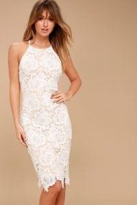 Temps De L'Amour White Lace Dress