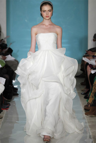 Reem Acra Lilac Wedding Dress